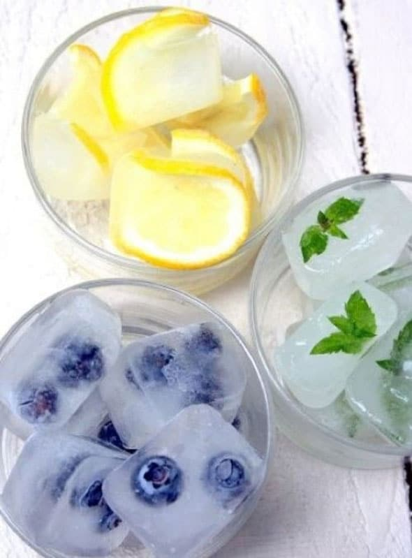 Fruit Ice Cubes - Summer Entertaining Ideas
