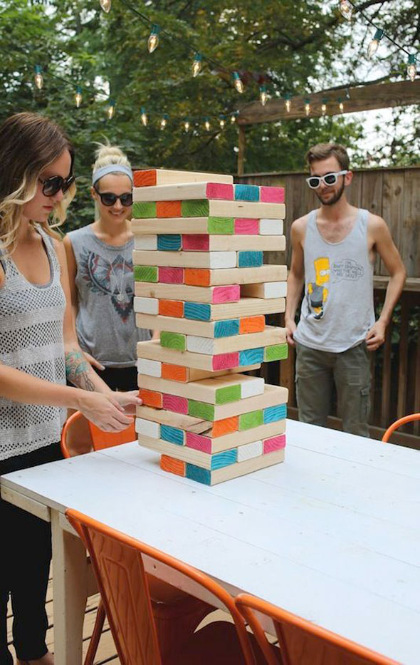 Jumbo Jenga - Summer Entertaining Ideas