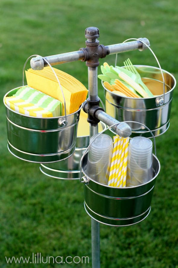 Paper Goods Station - Summer Entertaining Hacks