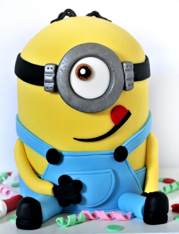 3D Minion Birthday Cake