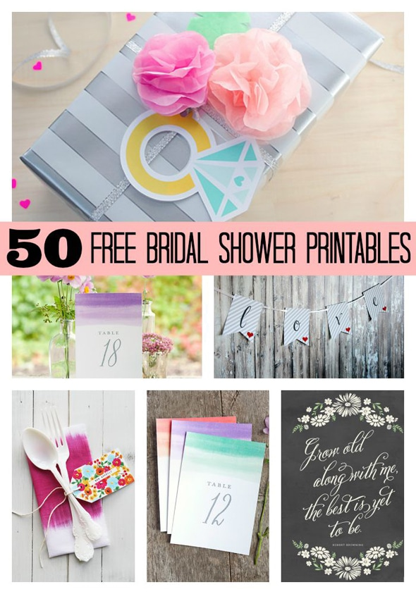 50 Free Bridal Shower Printables Pretty My Party Party Ideas