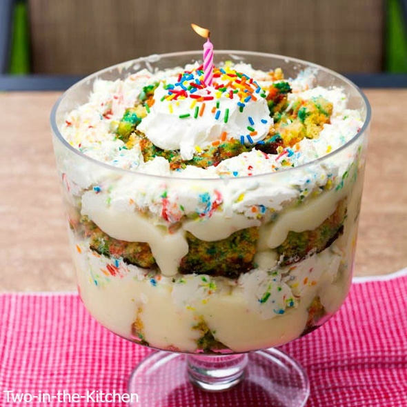 Funfetti Birthday Cake Trifle Recipe