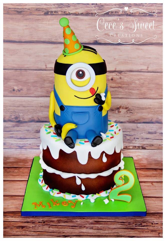 Happy Birthday Minion Cake