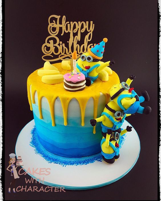 Enjoyable 10 Amazing Minion Birthday Cakes Pretty My Party Party Ideas Funny Birthday Cards Online Eattedamsfinfo