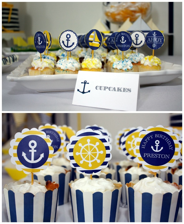 preppy-nautical-party-cupcakes