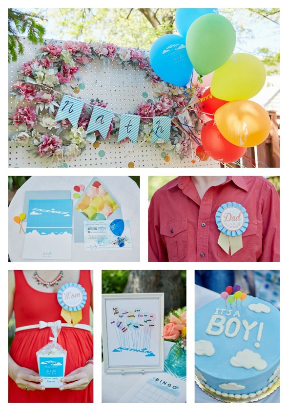 pixar s up themed baby shower ideas pretty my party