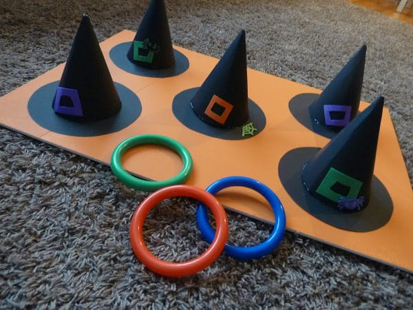 Witch Ring Toss Halloween Game