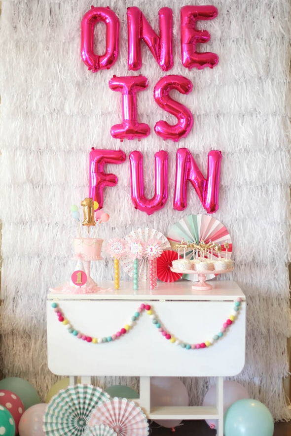1st-Birthday-Party-One-is-Fun-dessert-table