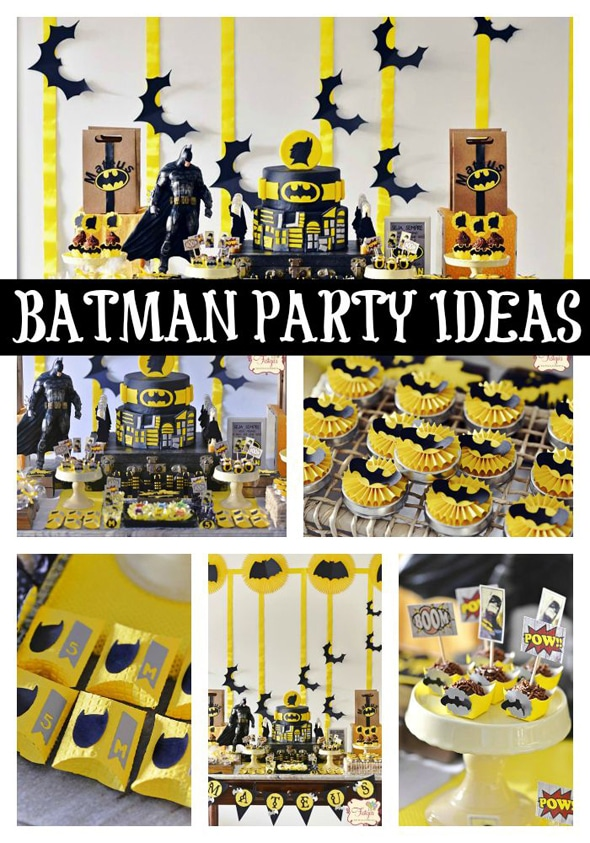 batman themed birthday party pretty my party party ideas