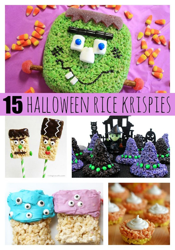 15 Fun Halloween Inspired Rice Krispie Treats via Pretty My Party