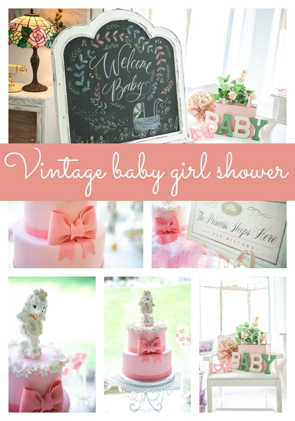 vintage baby girl shower pretty my party