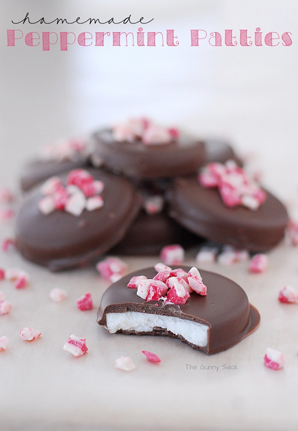 Homemade Peppermint Patties via Pretty My Party