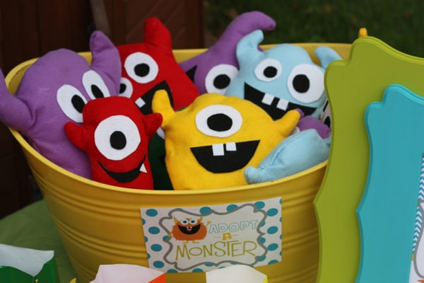 Adopt A Monster - Monster Birthday Party Ideas