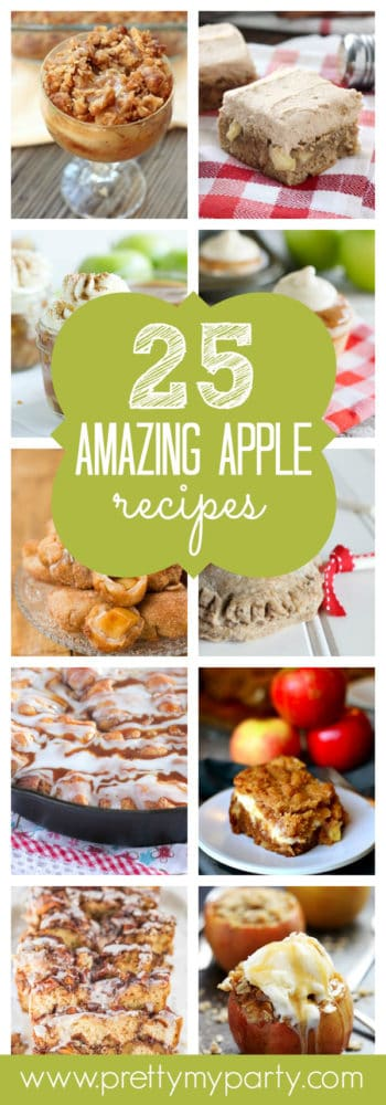25 Amazing Apple Recipes on Pretty My Party