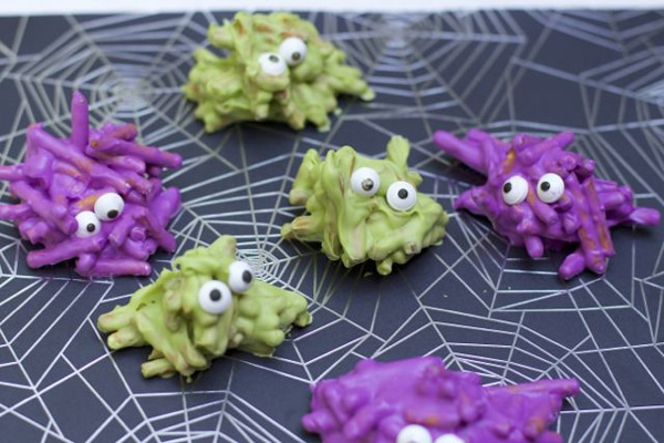 Chocolate Covered Pretzel Monsters - Monster Birthday Party Ideas