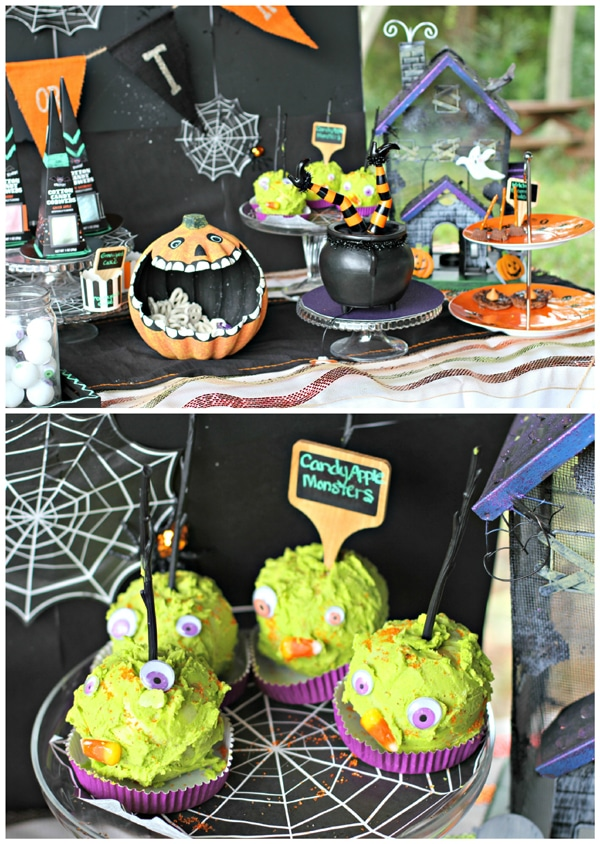 halloween-hayride-dessert-table-decorations