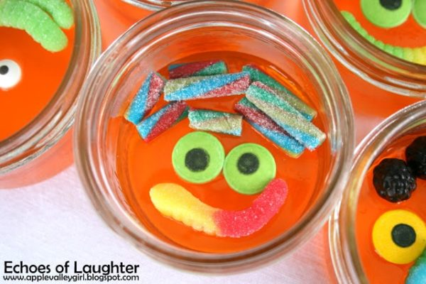 Jello Jar Monsters - Monster Birthday Party Ideas