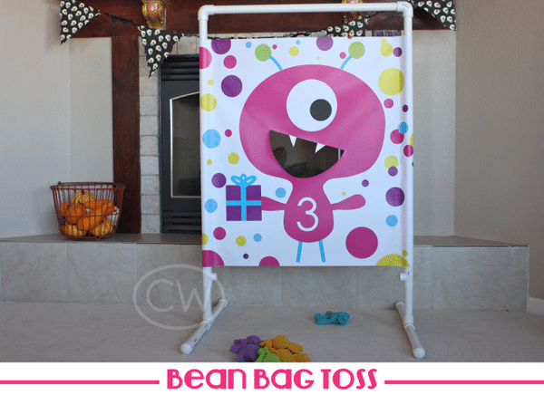 Monster Birthday Party Bean Bag Toss Game