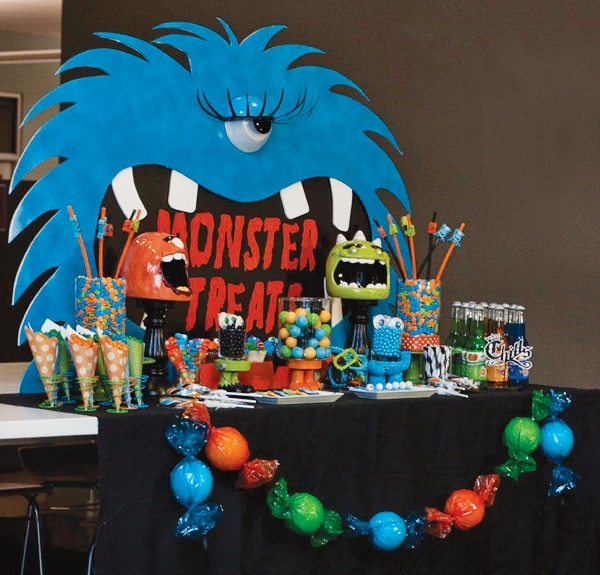 Monster Birthday Party Dessert Table