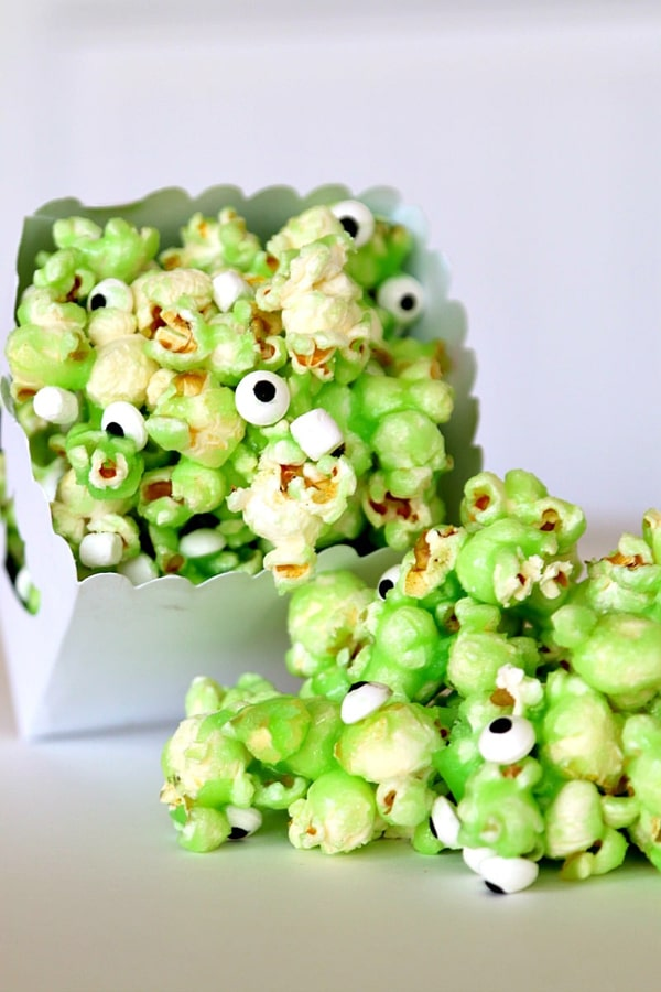 Monster Slime Popcorn Recipe - Monster Birthday Party Ideas