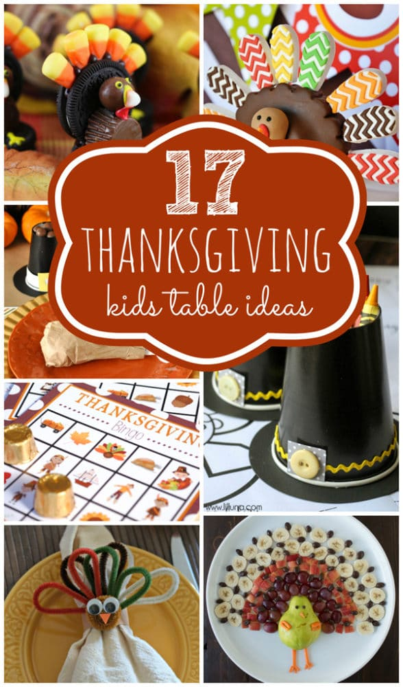 Thanksgiving Kids Table Ideas on Pretty My Party