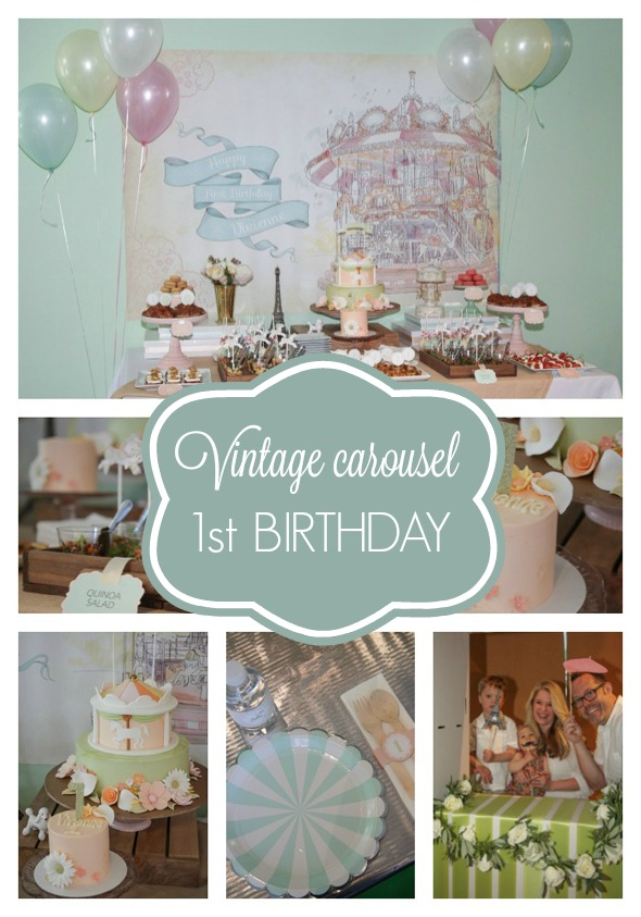 Vintage Carousel Party Pretty My Party Party Ideas