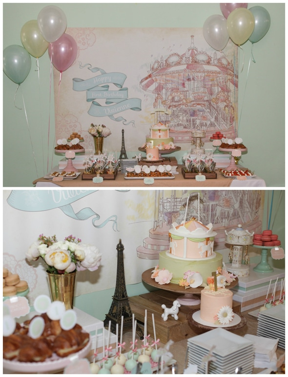 vintage-carousel-party-dessert-table