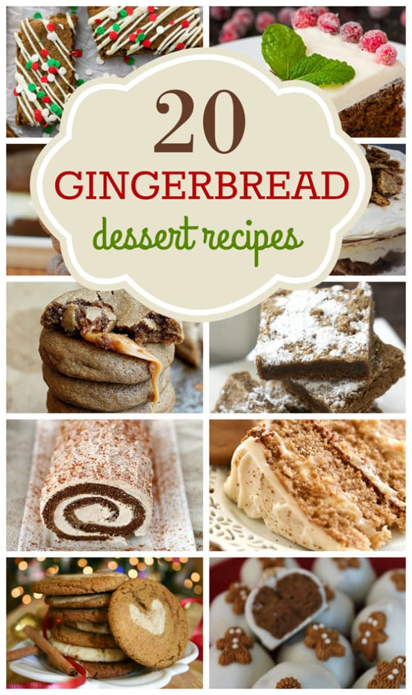 20 Gingerbread Dessert Recipes for the holidays on Pretty My Party