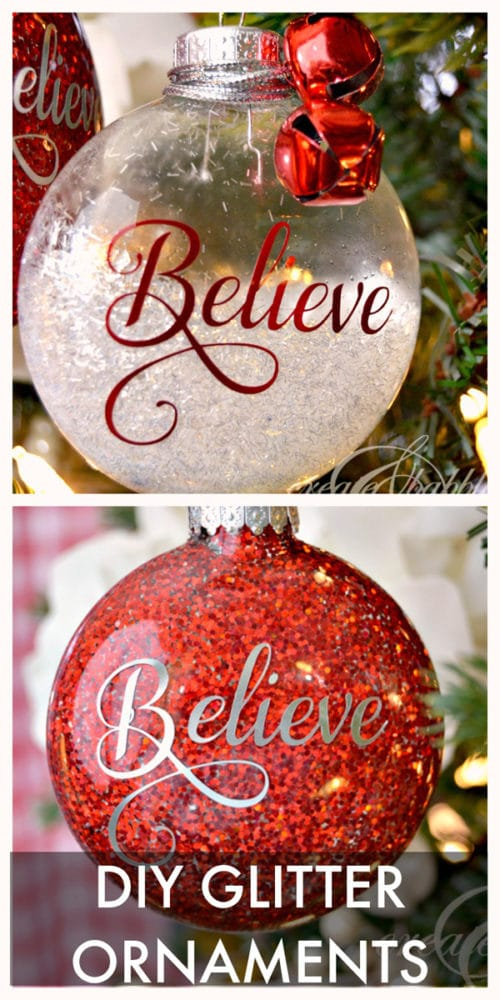 DIY Glitter Ornaments - 25 Super Creative DIY Ornaments