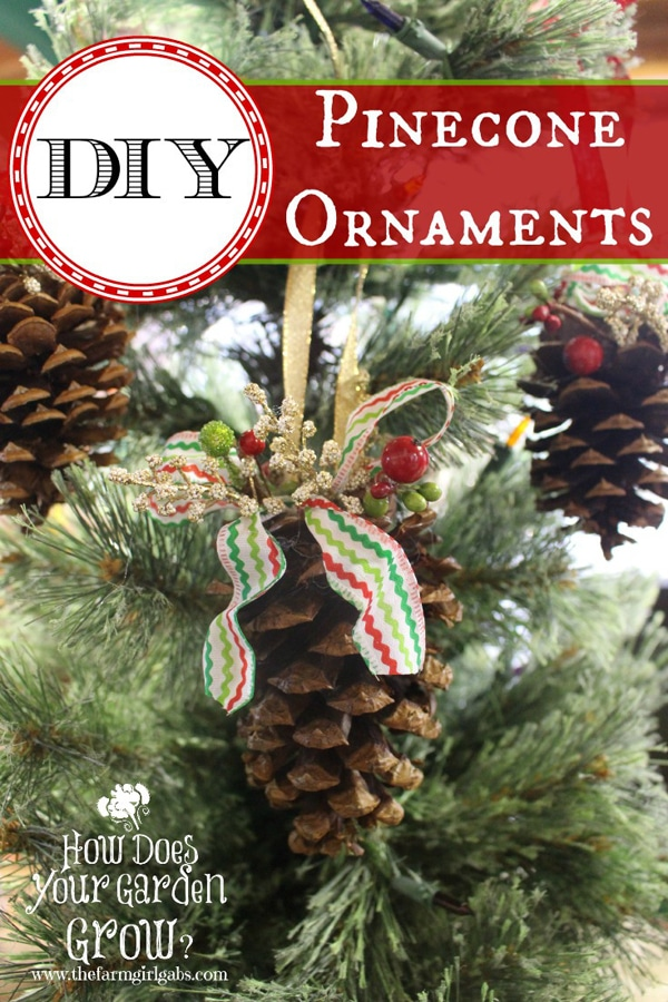 DIY Pinecone Ornament - 25 Super Creative DIY Ornaments