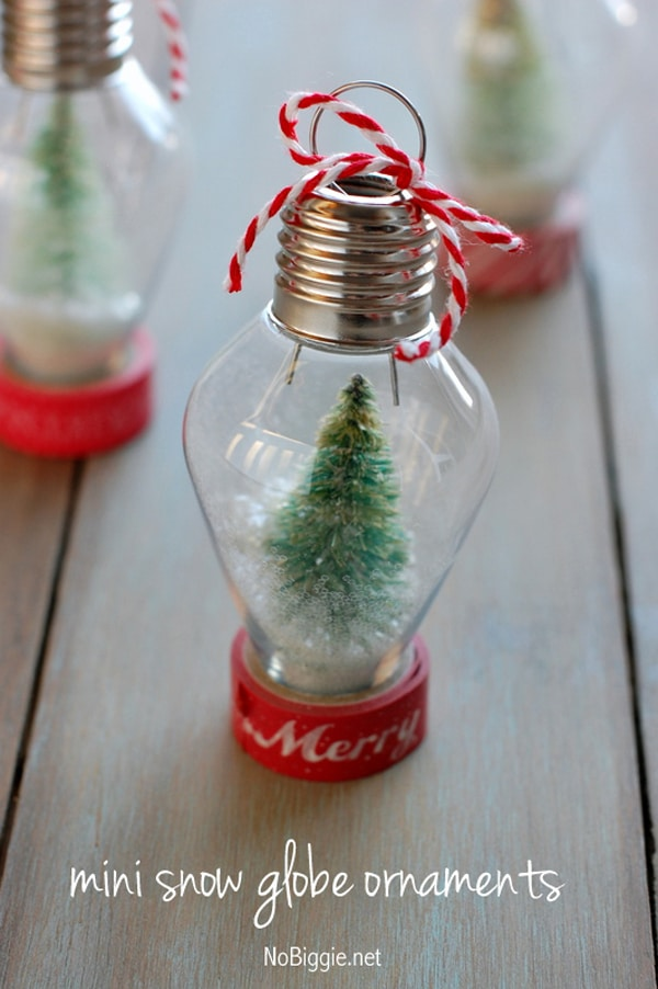 DIY Snow Globe Ornament - 25 Super Creative DIY Ornaments