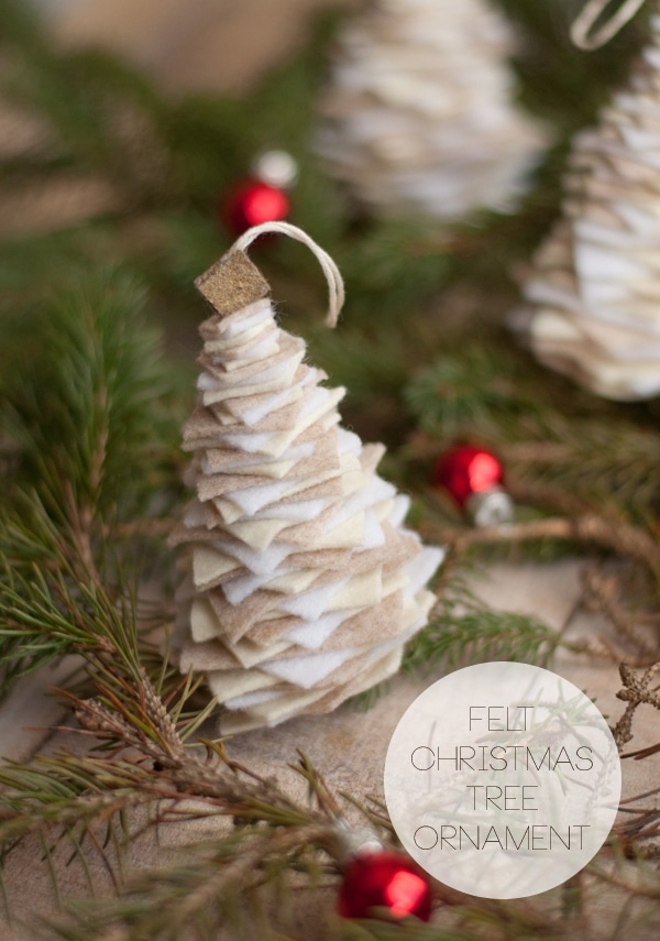 DIY Felt Tree Christmas Ornament - 25 Super Creative DIY Ornaments