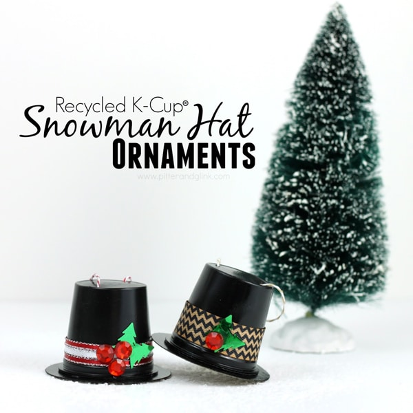DIY K Cup Snowman Hat Ornament - 25 Super Creative DIY Ornaments