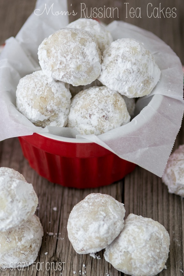 Mom's Russian Tea Cookies - Best Christmas Cookies