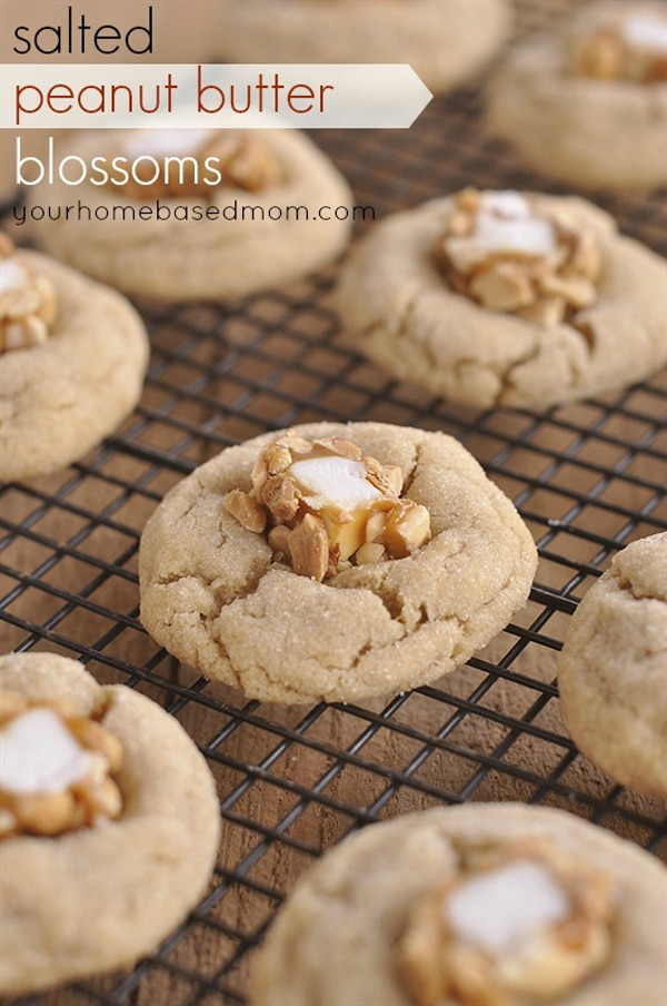 Salted Peanut Butter Blossoms - Christmas Cookies