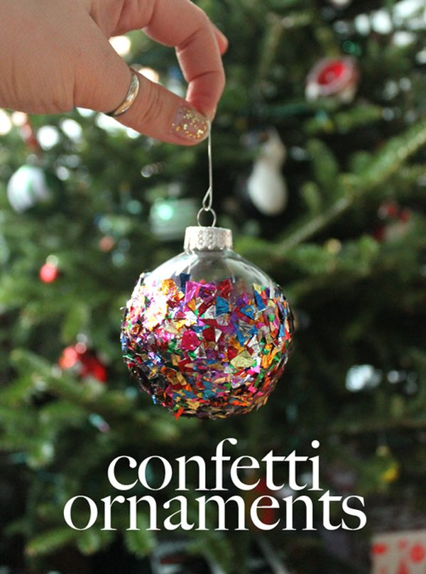 25 super creative diy ornaments pretty my party diy confetti prnament 25 super creative diy ornaments solutioingenieria Gallery
