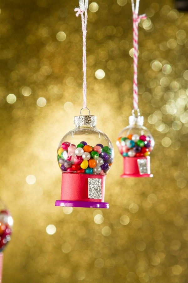 DIY Mini Gumball Ornaments - 25 Super Creative DIY Ornaments