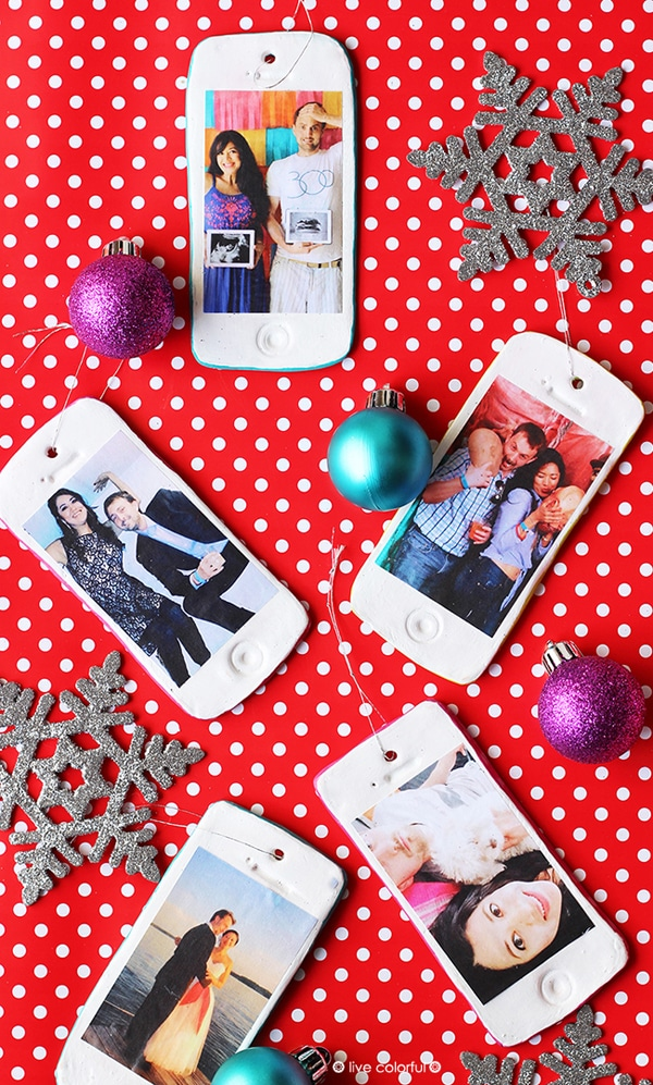 DIY iPhone Photo Ornament - 25 Super Creative DIY Ornaments