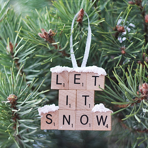 DIY Scrabble Tile Ornament - 25 Super Creative DIY Ornaments