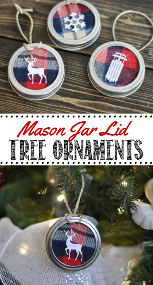 DIY Mason Jar Lid Ornament - 25 Super Creative DIY Ornaments