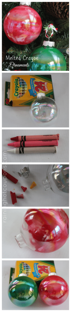 DIY Melted Crayon Ornament - 25 Super Creative DIY Ornaments