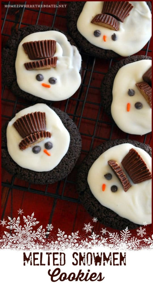 Melted Snowman Cookies - Best Christmas Cookies