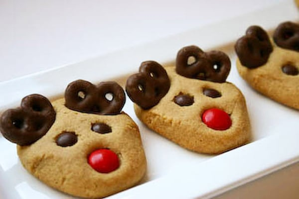 Peanut Butter Reindeer Cookies - Best Christmas Cookies