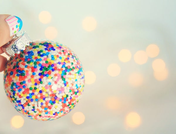 DIY Sprinkles Ornament - 25 Super Creative DIY Ornaments