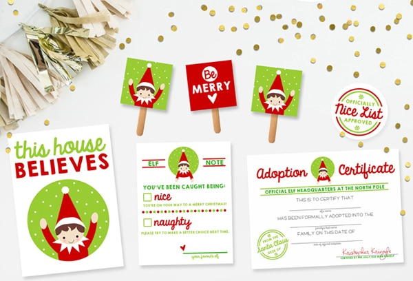 free printable elf on the shelf kit