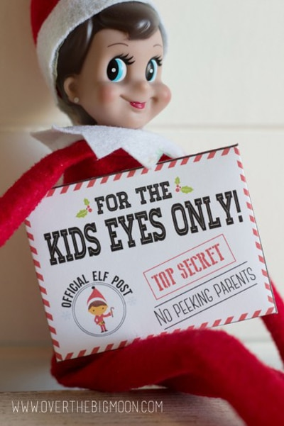 image about Elf on the Shelf Printable Props titled 15 Cost-free Elf upon the Shelf Printables - Rather My Occasion