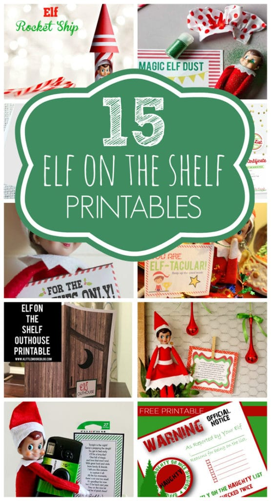 15 Free Elf on the Shelf Printables on Pretty My Party