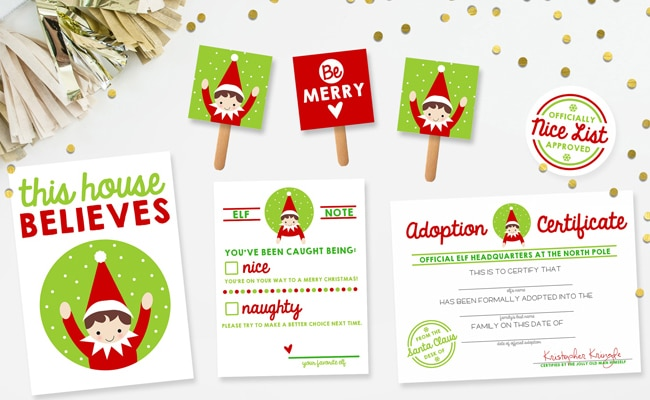 15 free elf on the shelf printables pretty my party