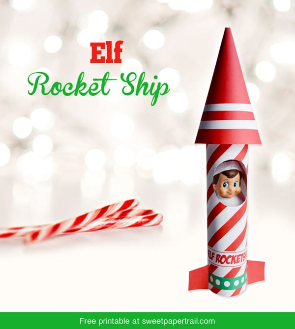 Free Elf on the Shelf Rocket Printable