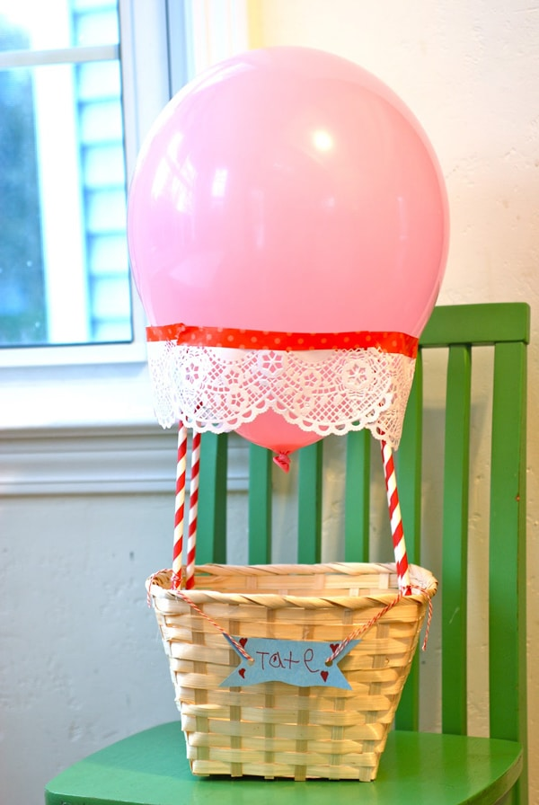 hot air balloon valentine box